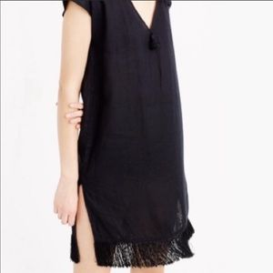 J Crew Linen cover-up with fringe